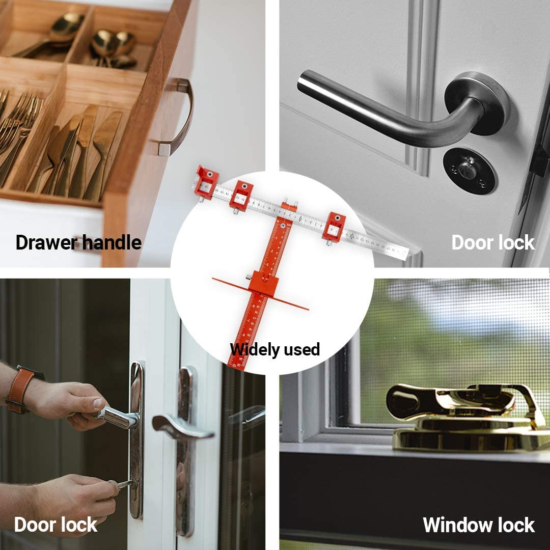 Door Handle Aluminium Alloy No Drilling Woodworking Invisible Drawer Pull Type