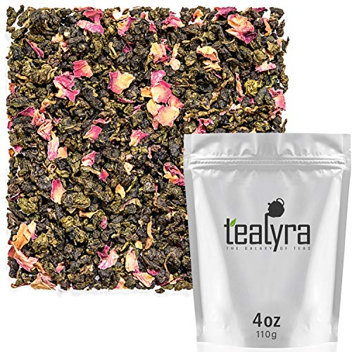 (Tealyra - Oriental Cherry Oolong - Rose Petals - Loose Leaf Tea - Medium Caffeine - 112g (4-ounce))