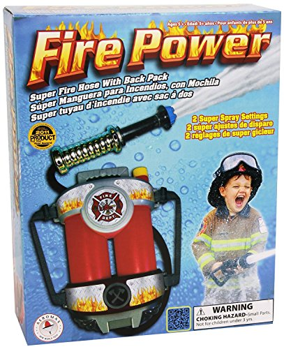 Aeromax Fire Power Super Fire Hose with Backpack (Boys Dress Up Ideas)