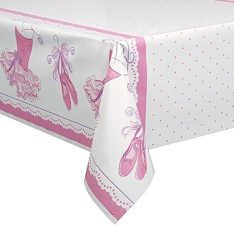 Tutu Ballerina Plastic Tablecloth, 84u0026quot; X 54u0026quot;