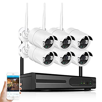 CZWNB HD 1080P 2MP 8-Channel inalámbrica Inteligente cámara de vigilancia Conjunto Impermeable,8wayset: Amazon.es: Hogar