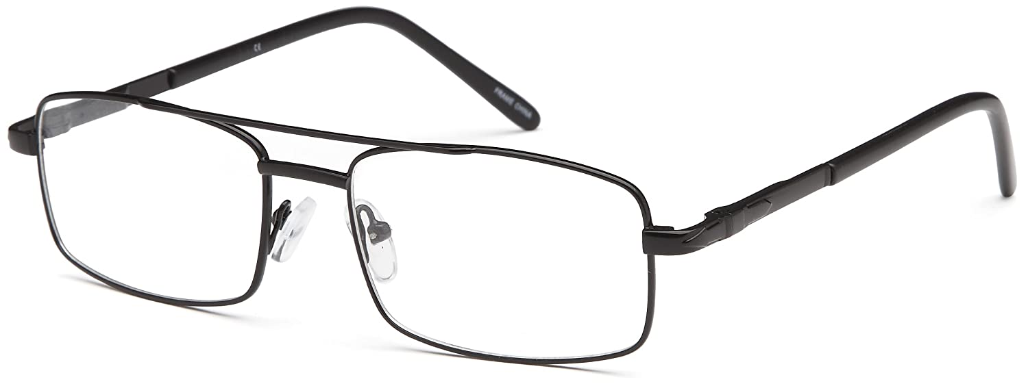 Amazon.com: Mens Square Glasses Frames Black Prescription Eyeglasses ...