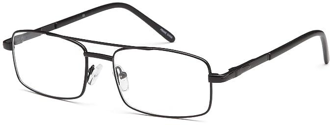 Amazon.com: Mens Square Glasses Frames Black Prescription Eyeglasses ...