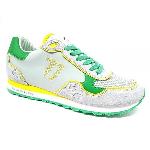 Trussardi Jeans Sneaker Uomo Colore E160 (45)  Amazon.it  Scarpe e borse 9ccd904b592