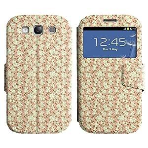 Be-Star Diseño Impreso Colorido Slim Casa Carcasa Funda Case PU Cuero - Stand Function para Samsung Galaxy S3 III / i9300 / i717 ( Simple Drawing )