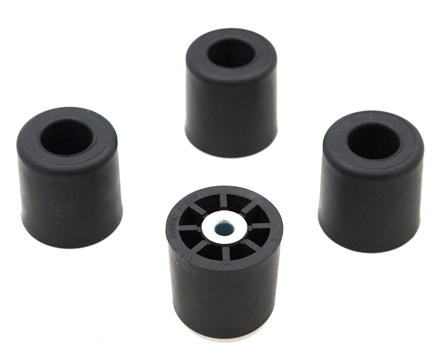 4 LARGE ROUND CYLINDER RUBBER FEET #1 - 1.375 H x 1.375- D Made in USA USA
