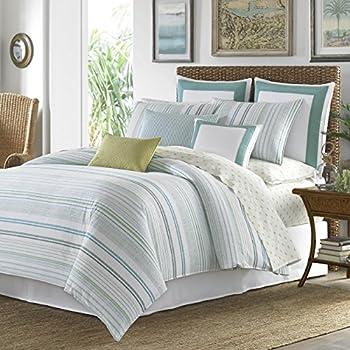 Amazon Com 3 Piece Blue Striped King Size Duvet Cover Set