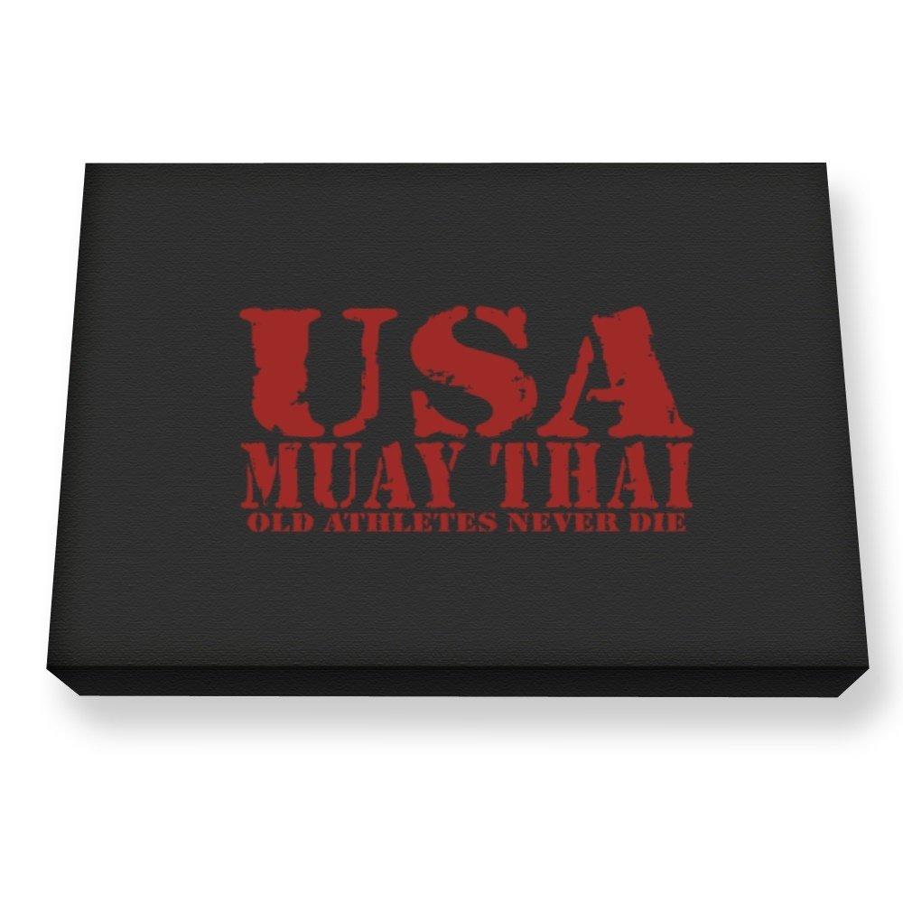 Teeburon OLD ATHLETES Muay Thai Canvas Wall Art