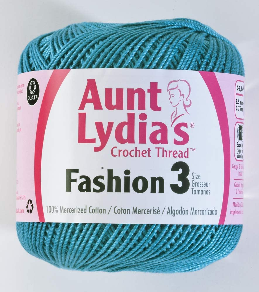 Coats Crochet Fashion Crochet Thread, Warm Teal