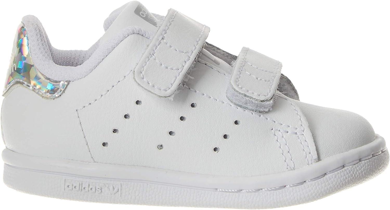 adidas Stan Smith CF I, Sneakers Basses bébé garçon Multicolore Ftwr White Ftwr White Core Black Ee8485