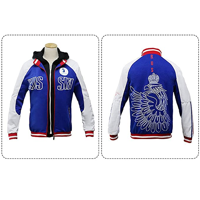 Yuri On Ice Victor Plisetsky Cosplay Costume Jacket Hoodie Sports Suit Sportwear