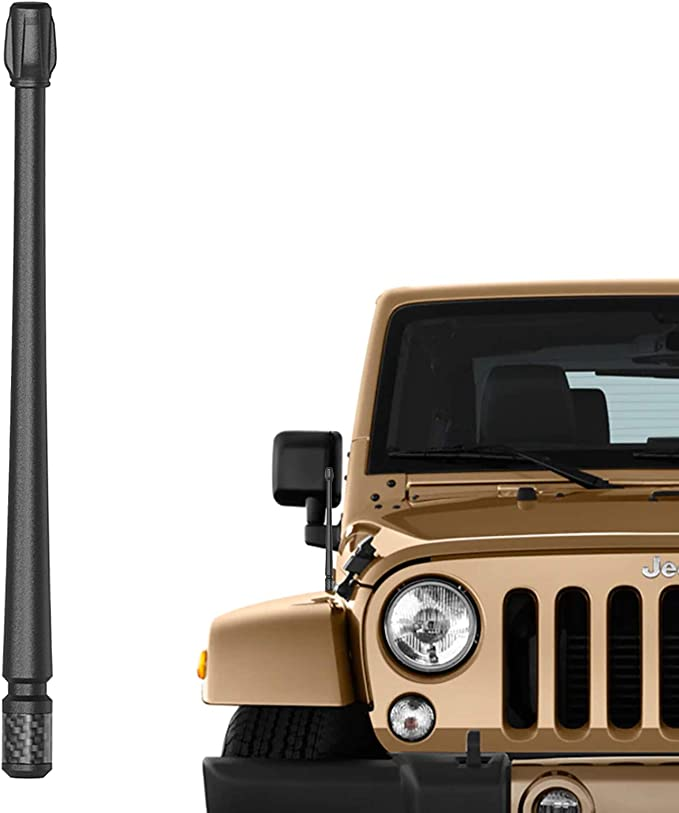 Blue 20-21 2007-2021 Renegade Designed for Optimized FM//AM Reception JL JT Gladiator ONE250 13 inch Flexible Rubber Antenna for Jeep Wrangler JK JKU JL JLU Rubicon Sahara Gladiator
