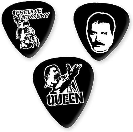 Freddie Mercury Queen 3 x Guitarra Picken Plectrums bweg: Amazon ...