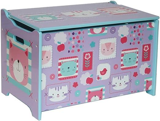 ODT - Caja de almacenaje para taburetes Infantiles (Madera), Color Lila: Amazon.es: Juguetes y juegos