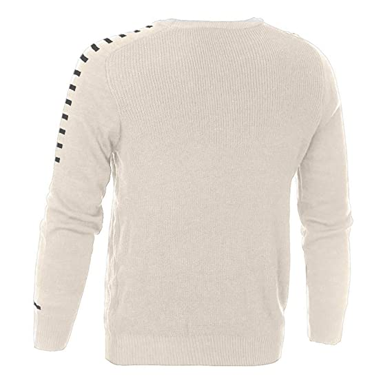 WM & MW Mens Sweater Winter Casual Long Sleeve Solid Knitted Slim Pullover Sweater Tops Muscle T Shirt at Amazon Mens Clothing store: