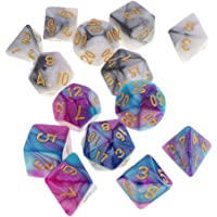 MagiDeal Set/14pcs 1.6cm/0.62'' Polyhedral Dice Die D20 D12 D10 D8 D6 D4 Table Games for Dungeons & Dragons DND MTG RPG Toy