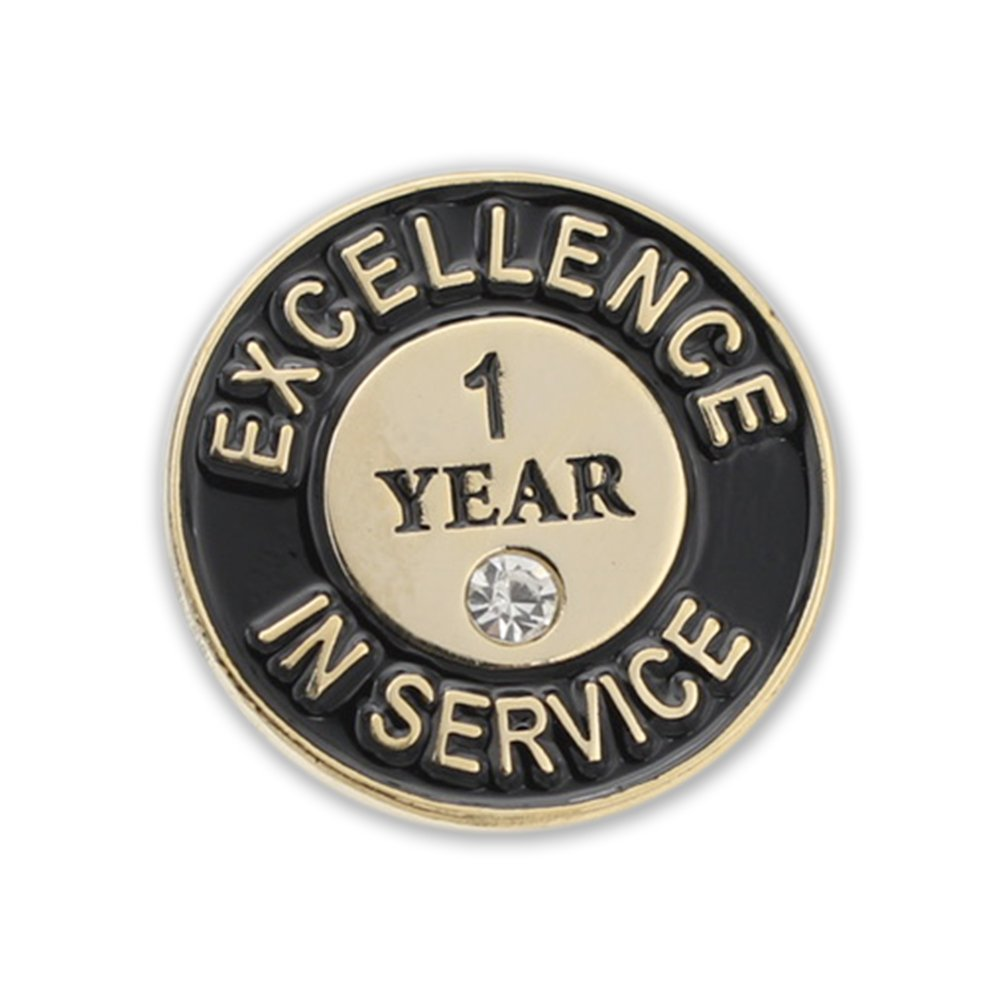 WIZARDPINS Excellence In Service One Year Lapel Pin– 5 Pins
