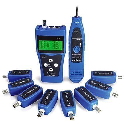 Noyafa NF-388 - Comprobador de cables de red Ethernet LAN, USB, cable