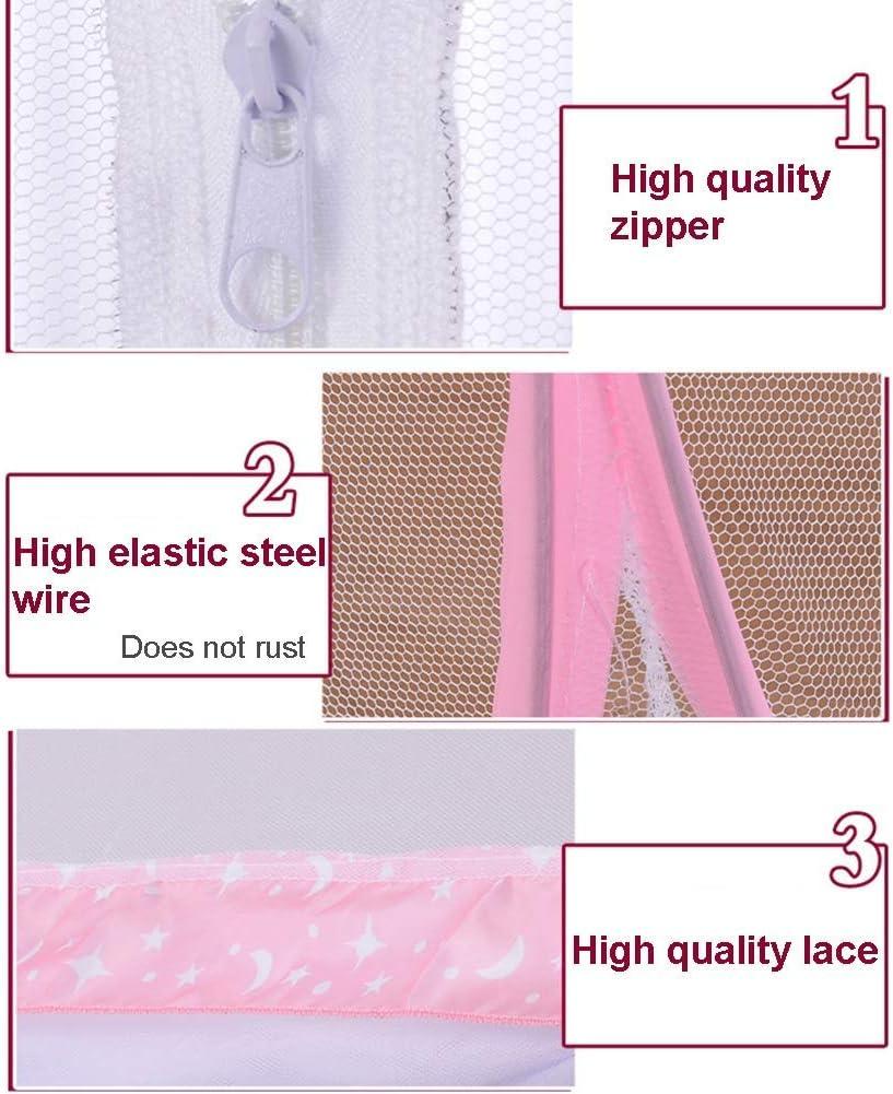 DPSLYXCD LWZ Mosquitera Plegable para Cama Agujeros Finos con Parte Inferior Material Size 0.00watts Blue-doubledoor f/ácil de Instalar antipicaduras de Mosquitos