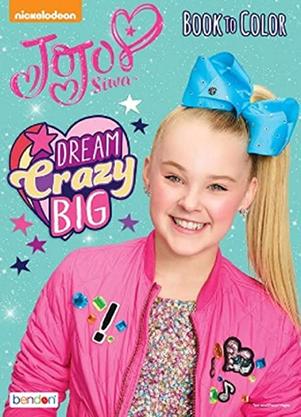 Amazon.com: JOJO Siwa Coloring Book - 24p - Dream Crazy Big: Toys & Games