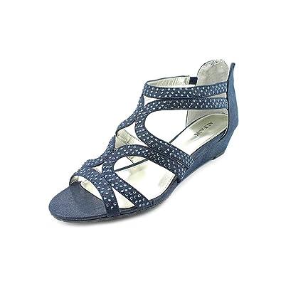 20de1b27c Image Unavailable. Image not available for. Color  Alfani Gypsie Women US 7  Blue Wedge Sandal