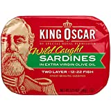 King Oscar Sardines Extra Virgin Olive Oil, 3.75-Ounce Cans (Pack of...