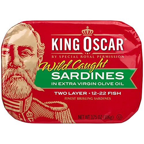 King Oscar Sardines Extra Virgin Olive Oil, 3.75-Ounce Cans (Pack of 12) (Sultan Sardines)