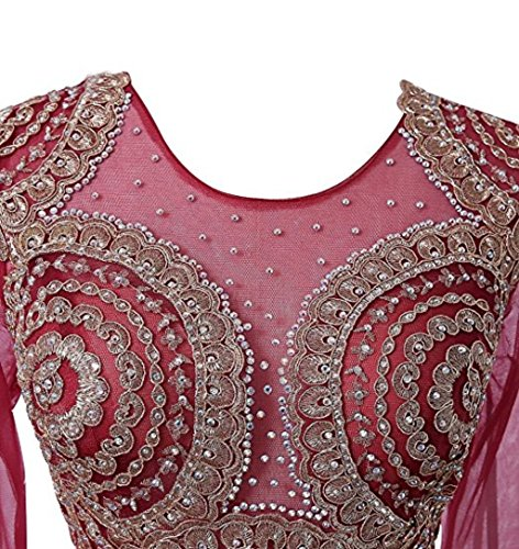 Mieder Applikationen Meerjungfrau Love nge Sheer Spitze Boden Frauen Kleid Pink L Abendkleid Perlen Strass King's Abendkleid Langarm gZxIwHqHP