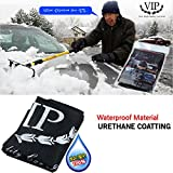 Car Windshield Snow Urethane Coating Cover & Sun Shade Protector Side Mirrors Cover for Car Rv (Sedan)