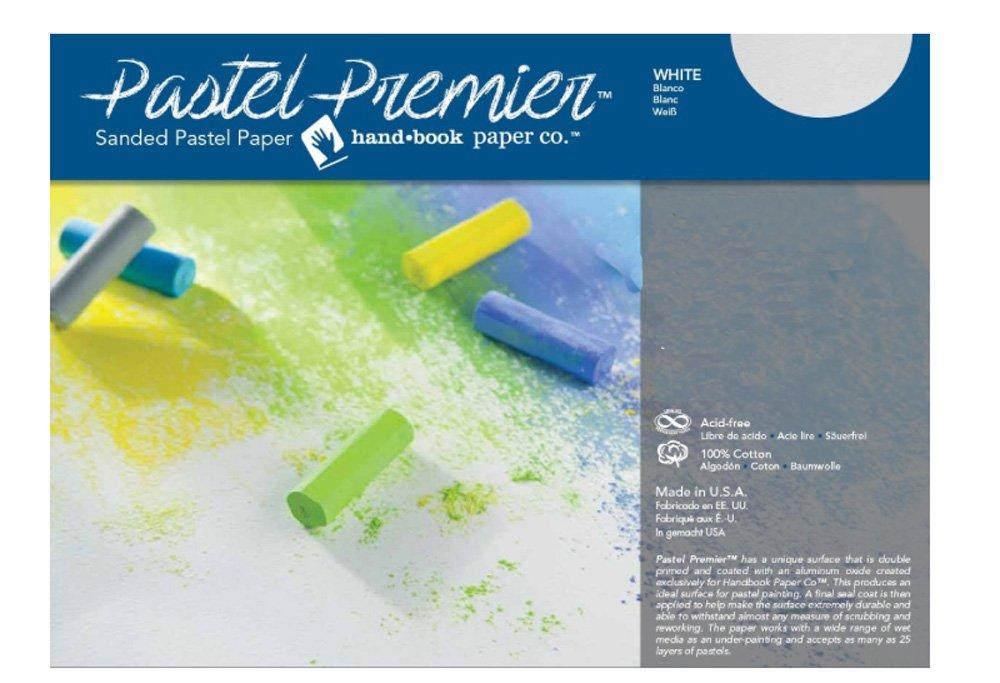 White 26x40 5 Sheet Pack Pastel Premier Sanded Pastel Paper Fine Grit Sheets
