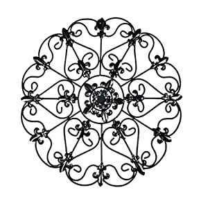 The Lakeside Collection Iron Wall Medallion - Authentic Wall Decor