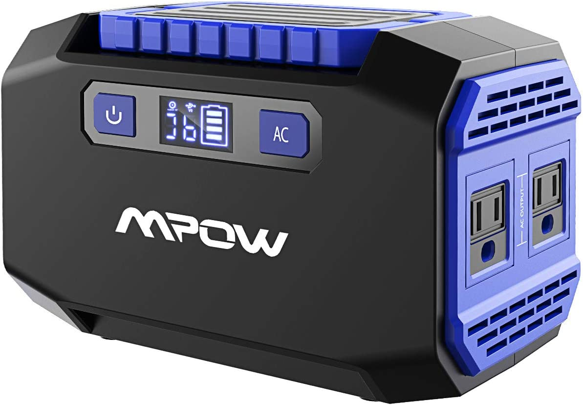 OMORC Mpow Portable Power Station 167Wh 45000mAh Portable Power Supply Lithium Battery Backup with 2 AC Outlets 250W Peak ,2 USB 3 DC Ports Rechargeable Solar Camping Generators for Emergence CPAP