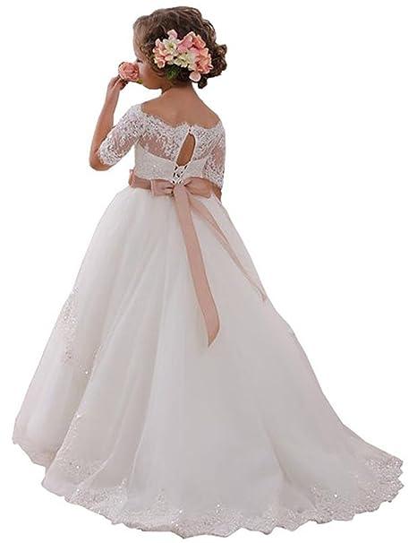 Amazon.com: muchxi elegante vestido de holy primera Comunión ...