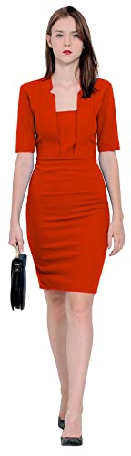 Marycrafts Womens Elegant Work Office Business Pencil Sheath Dress