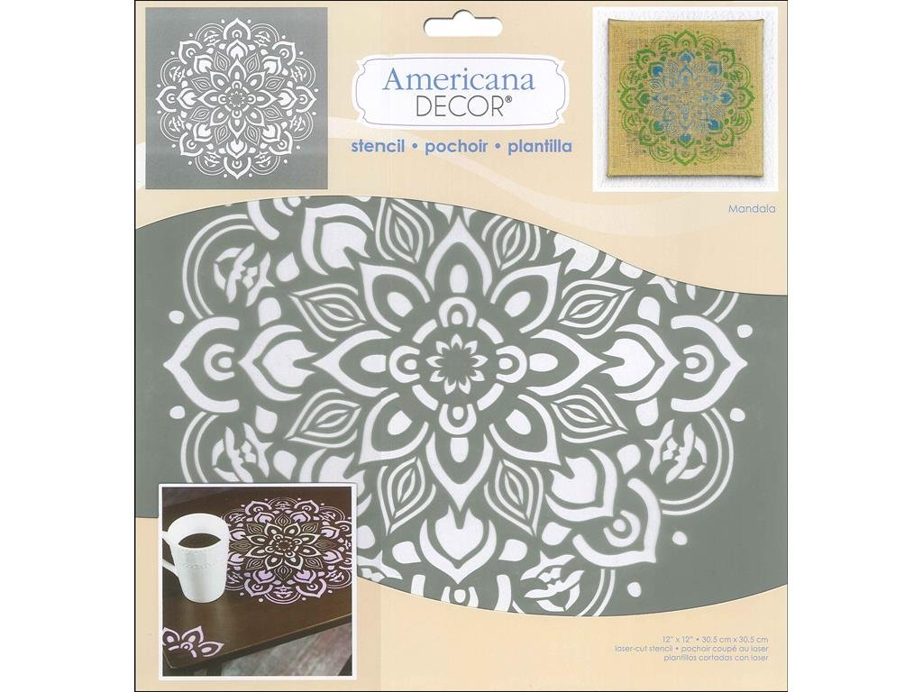 Deco Art Americana Decor Stencil Mandala, None, Extra Large, One Size ADS26