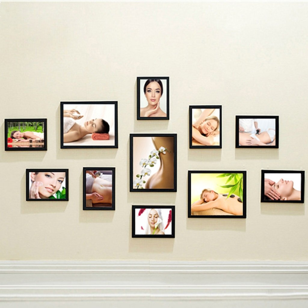 Home@Wall photo frame Beauty Salon Decoration Painting Body Paintings Health Club SPA Club Chinese Medicine Scraping Massage Mural Photo Frame Photo Wall (Color : C)