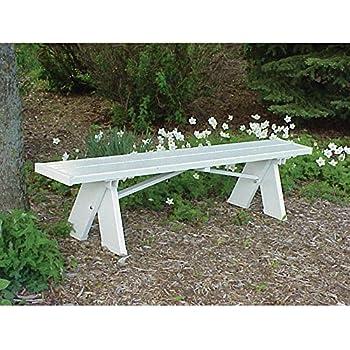 Amazoncom In L X In W X In H Ft White Vinyl Patio - White vinyl picnic table