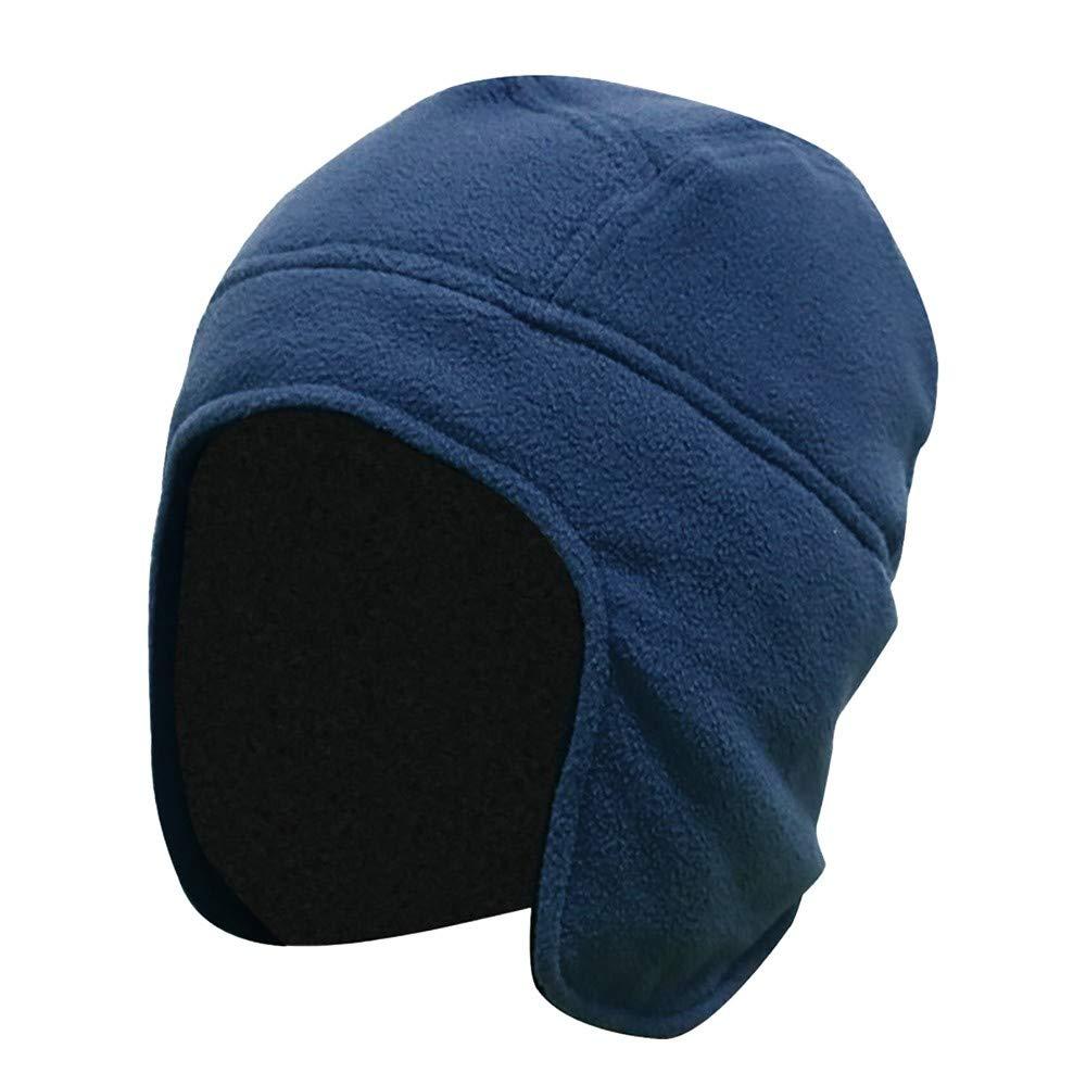 KPPONG Winter Mode Verdicken Warme Mens Women Winter Outdoor Einfarbig Fleece Earflap Hut Caps Ohren Warme Mü tze KPPONGHAT