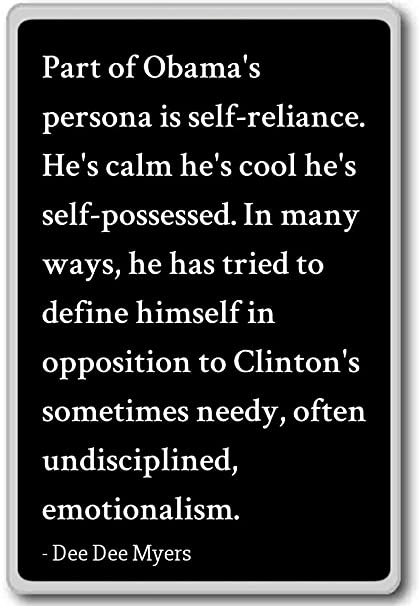 Amazoncom Part Of Obamas Persona Is Self Reliance He Dee
