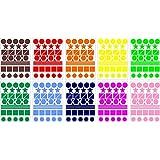 Lot gommettes autocollantes 400 multi formes couleurs mix 2cm carte scrapbooking