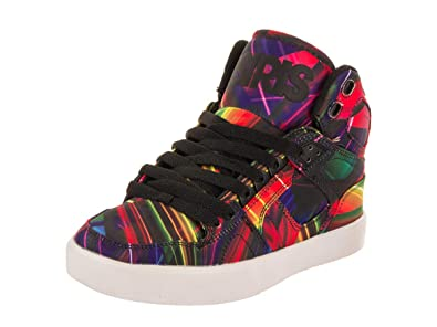 Osiris Womens Mid Top Printed Skate Shoes Black 6 Medium (B 75701fb9ef
