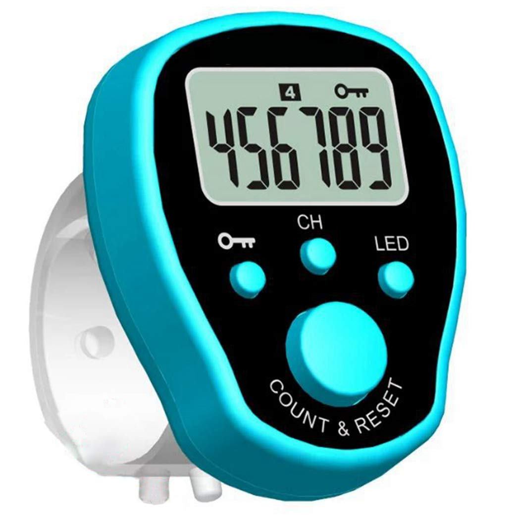 Fansport Digit Counter Creative Portable Counter Clicker Tally Counter with Light