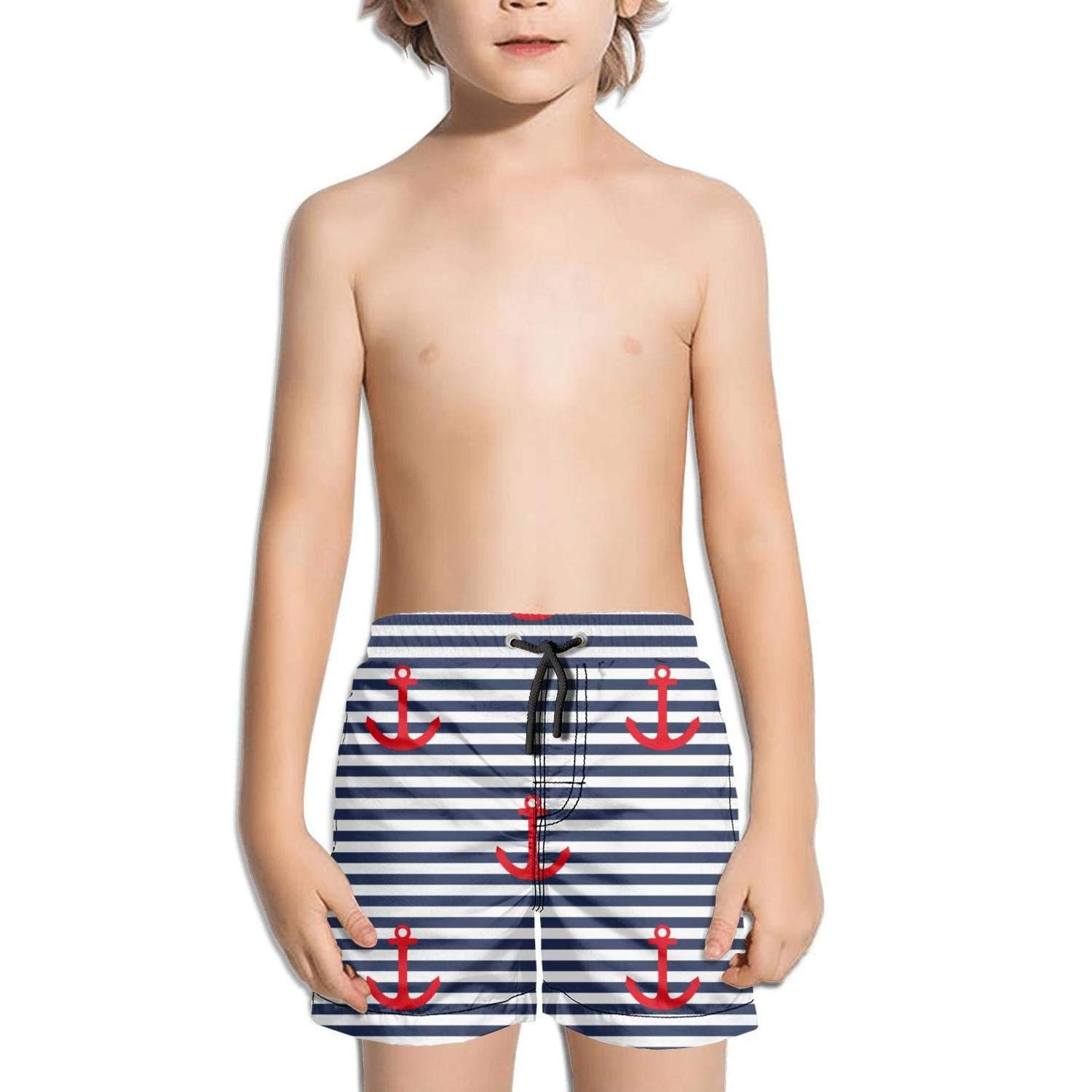 Boys Girls Nautical Boat Anchors Helm Lighthouses Beach Shorts Watersports Skate Breathable Boardshorts