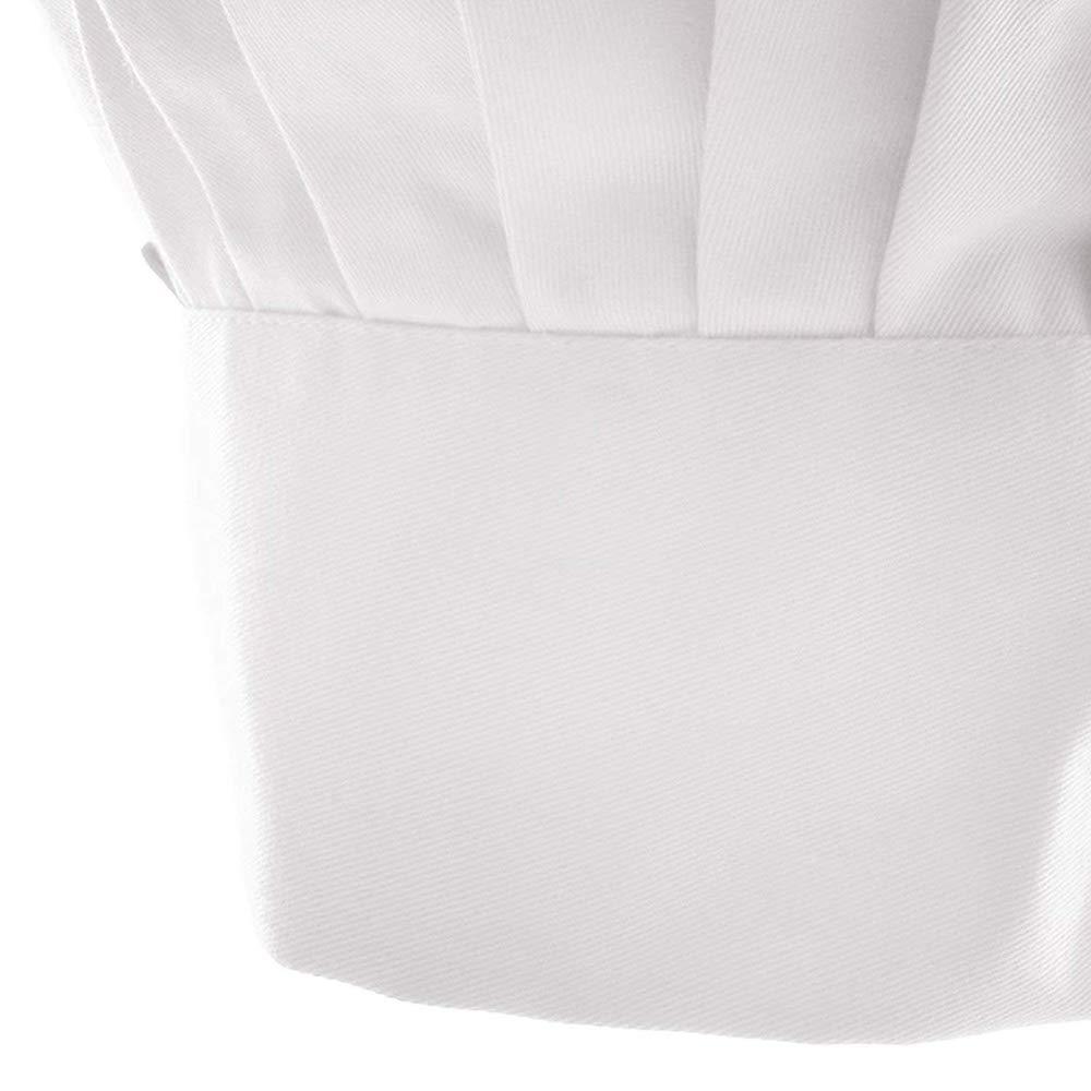 Goodplan Chapeau de Cuisine de Chef Baking Hat Unisexe Convient pour Les Restaurants de Cuisine Caf/és Blanc