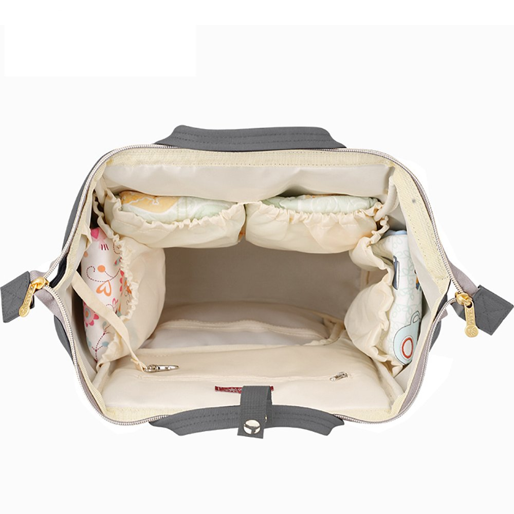 Sunveno Baby Diaper Bag Mummy Maternity Nappy Bag Large Capacity Travel Backpack Desiger Nursing Bag for Baby Care (Olive) by SUNVENO (Image #6)