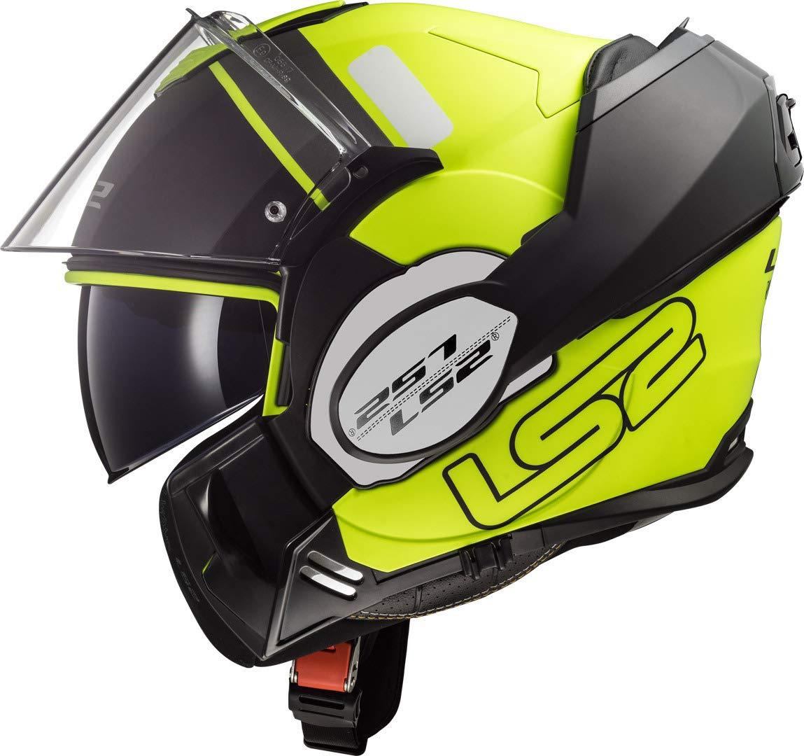 titanio S LS2 Casco de moto FF399 VALIANT PROX negro mate
