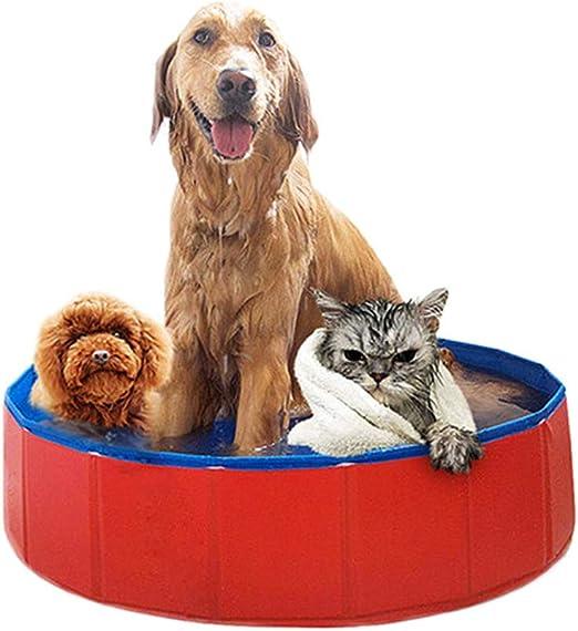GJ688 Plegable portátil Mascota Perro Gato Piscina Tina Cachorro ...
