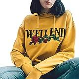 HCFKJ Sweatshirt Damen, S-XL, Langärmliges Hoodie Sweatshirt Pullover mit Kapuze Pullover Tops Bluse Waschmaschinen Pullover Top Bluse