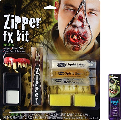 Potomac Banks Bundle: 2 Items - Zombie Zipper Face FX Makeup Kit and Free Pack of Makeup]()