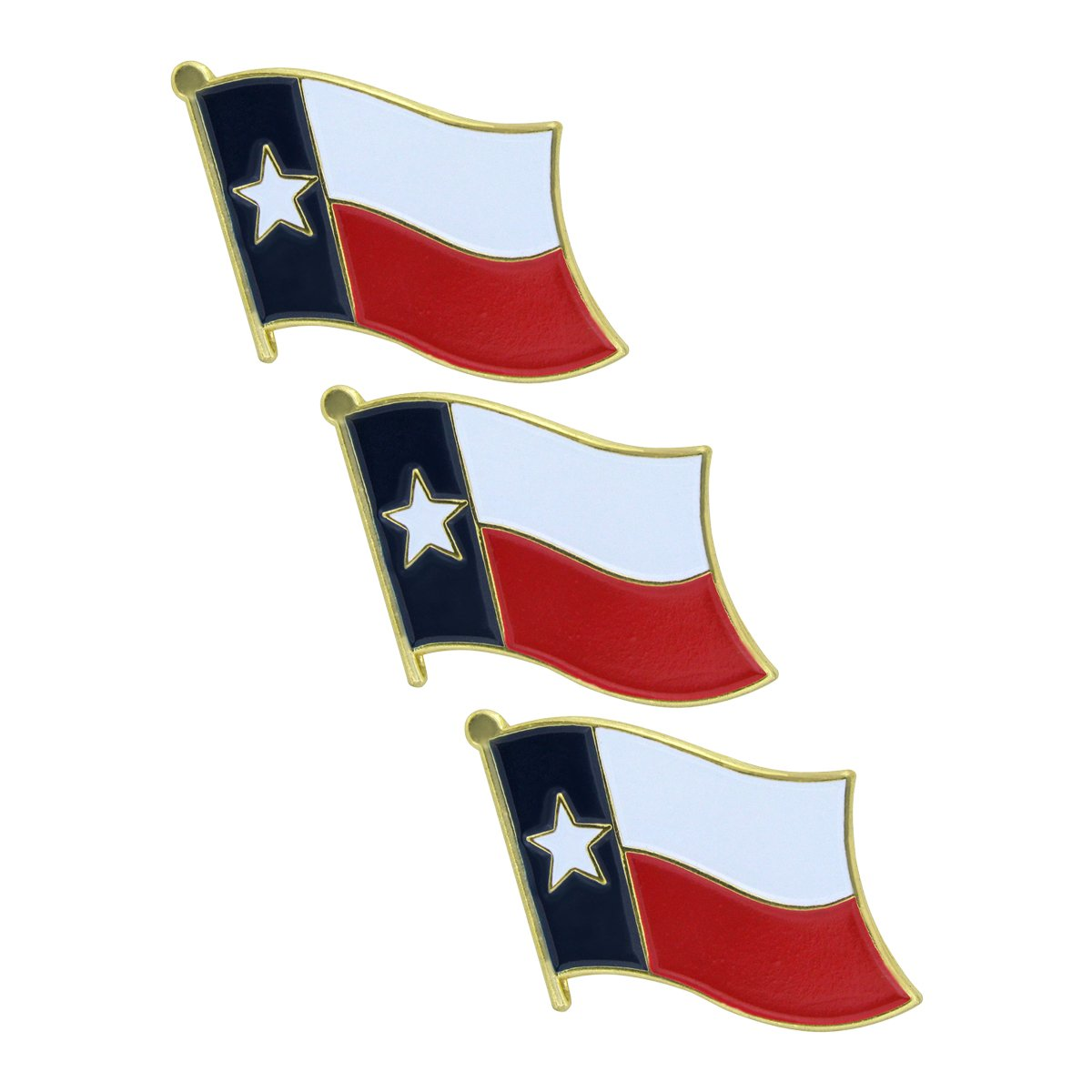 Online Stores Texas Flag Lapel Pin - 3 Pack
